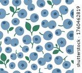 blueberry vector background.... | Shutterstock .eps vector #1760462819