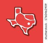 steak texas state logo. vector...   Shutterstock .eps vector #1760462909