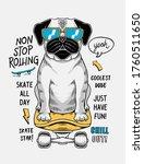 cool dog skateboarding vector ... | Shutterstock .eps vector #1760511650