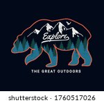 'explore the great outdoors'... | Shutterstock .eps vector #1760517026