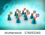 3d business people icon with... | Shutterstock . vector #176052260