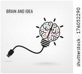 creative brain idea concept... | Shutterstock .eps vector #176052290