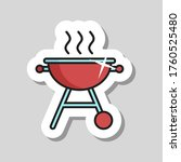 grill bbq cookout vector icon....