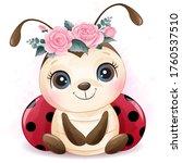 cute little ladybird with...   Shutterstock .eps vector #1760537510
