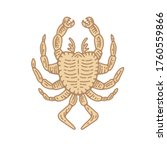 Crab Engraving Vector...