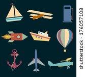 set icons of transportation....   Shutterstock . vector #176057108