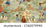 ancient china seamless pattern. ... | Shutterstock .eps vector #1760579990