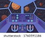 interior spacecraft. futuristic ...   Shutterstock .eps vector #1760591186