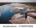 Drought At Vistula River In...