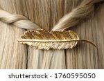 Woman With Beautiful Gold Hair...