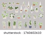 sticker pack. big set with... | Shutterstock .eps vector #1760602610