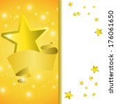 postcard with a tape star and...   Shutterstock .eps vector #176061650