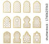 arabic door and window vector... | Shutterstock .eps vector #1760625563