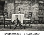 table and chairs in front of... | Shutterstock . vector #176062850