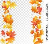 maple leaves vector  autumn...   Shutterstock .eps vector #1760633606
