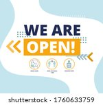we are open after quarantine...   Shutterstock .eps vector #1760633759