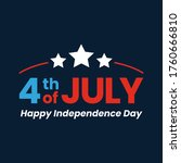 4th of july. usa independence... | Shutterstock .eps vector #1760666810