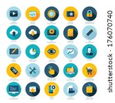 set of flat design icons for... | Shutterstock .eps vector #176070740