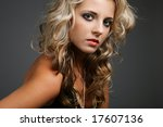 young attractive woman with... | Shutterstock . vector #17607136