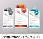 price list widget with 3... | Shutterstock .eps vector #1760752670