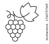 bunch of grapes thin line icon  ... | Shutterstock .eps vector #1760757569
