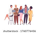 group of different smiling... | Shutterstock .eps vector #1760776436