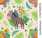 seamless pattern with funny...   Shutterstock .eps vector #1760782076