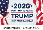 trump 2020 four more years... | Shutterstock .eps vector #1760845973