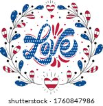 love   happy 4th of july... | Shutterstock .eps vector #1760847986