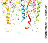 colorful confetti isolated on... | Shutterstock .eps vector #176086004