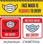 no face mask no entry sign.... | Shutterstock .eps vector #1760875316