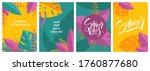 set of abstract summer...   Shutterstock .eps vector #1760877680