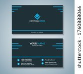 modern business creative card... | Shutterstock .eps vector #1760888066