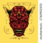 Vector Red Devil Face...