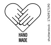 handmade vector logo icon hand...   Shutterstock .eps vector #1760917190