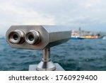 Tourist Telescope Against...