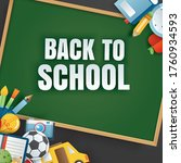 back to school banner with... | Shutterstock .eps vector #1760934593