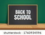 back to school banner with... | Shutterstock .eps vector #1760934596