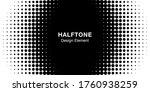 halftone circle frame... | Shutterstock .eps vector #1760938259