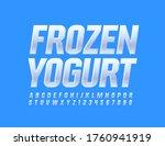 vector tasty emblem frozen... | Shutterstock .eps vector #1760941919