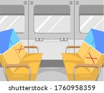 keep your distance in public... | Shutterstock .eps vector #1760958359