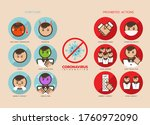 coronavirus symptom and... | Shutterstock .eps vector #1760972090