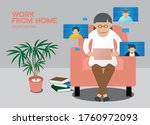 remote meeting  work form home... | Shutterstock .eps vector #1760972093