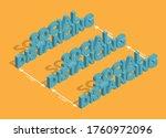 social distancing  3d fonts... | Shutterstock .eps vector #1760972096