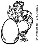 chicken and the egg | Shutterstock .eps vector #176098019