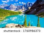 Beautiful Mountain Lake In...