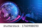 blue violet vector background.... | Shutterstock .eps vector #1760988050