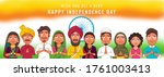different religion people doing ... | Shutterstock .eps vector #1761003413