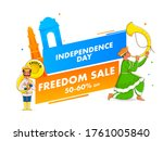 independence day freedom sale... | Shutterstock .eps vector #1761005840