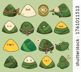 vintage chinese rice dumplings...   Shutterstock .eps vector #1761011513